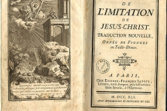 De Imitation de Jesus Christ,1741