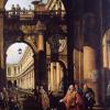 Bernardo Bellotto, Capriccio architettonico con autoritratto