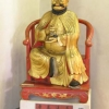 Copy of the idol venerated in the Temple of the Spirits in Canton, with effigy of Marco Polo (19th cent.)