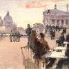 Café on the Riva degli Schiavoni, Venice, ca. 1880-82
