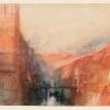 J.W.Turner, Venezia: una veduta immaginaria dell'Arsenale, 1840 ca.
