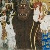 Gustav Klimt. Particolare dal fregio di Beethoven (1901-1902). Materiali vari.