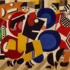 Fernand Léger Curtain design for the ballet Skating Rink , 1922 - Dansmuseet Stockholm© Fernand Léger by SIAE 2014