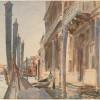 John Singer Sargent, Attracchi di gondole sul Gran Canale