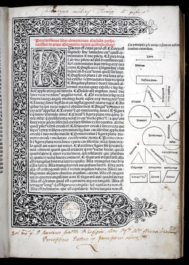 Euclide, Elementa Geometriae