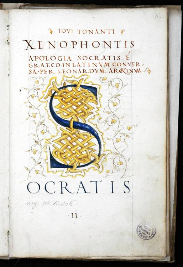Felice da Feliciano, Apologia Socratis