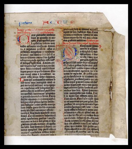 Frammento Bibbia Gutenberg, 1455