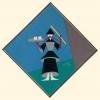 14. Cinese con vassoio, 1920 tarsia di stoffe colorate, cm 40×40
