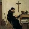 Giacomo Favretto, Il francescano Giovanni Duns Scoto nella sua cella, 1872