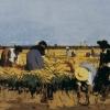 Giacomo Favretto, La raccolta del riso nelle terre del basso veronese, 1878