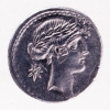 "Denario ""Urania"" di Pomponio Musa 66 a.C."