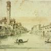 Giacomo Guardi(1764-1835), Veduta del canale dei Greci