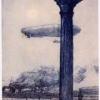 Guido Marussig, La colonna della Piazzetta. Un nostro dirigibile in ricognizione e torpediniere pronte a prenedre il mare