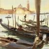 John Singer Sargent (1856 – 1925), Gondolas off San Giorgio Maggiore, ca. 1902-3