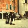 John Singer Sargent (1856 – 1925), Sortie de l'église, Campo San Canciano, Venice, 1882
