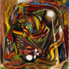 Jackson Pollock, Untitled (Composition  with Serpent Mask) (1938-41)