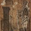 Giovanni Pividor (1808 - 1872), Scorcio laterale della Basilica verso Piazza San Marco