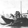 Giandomenico Tiepolo, Il burchiello, particolare