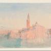 J.W.Turner, San Giorgio Maggiore al tramonto, dall'Albergo Europa, 1840