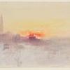 J.W.Turner, Venezia all'alba dall'Hotel Europa con il campanile di San Marco, 1840