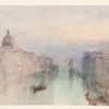 J.W.Turner, Braccio superiore del Canal Grande, con San Simeone Piccolo al crepuscolo, 1848