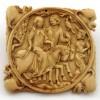 """Parigi (Francia) Valva di custodia per specchio con """"Dama e cavaliere col falco"""", 1300-1320"""