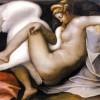 Pittore manierista tosco-romano Leda e il cigno (da modello di Michelangelo), 1540-1550