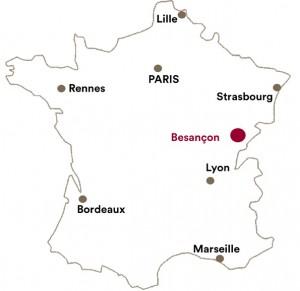 Mappa Francia - besancon